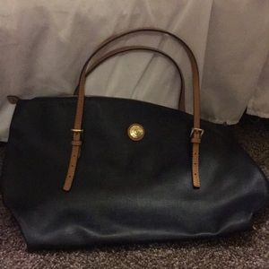 Navy extra large tote adjustable handles